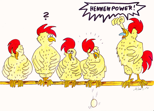 Hennenpower Print by Michaela Bautz