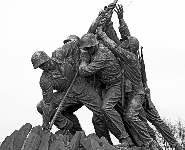 Iwo Jima Memorial In Arlington Virginia Print by Brendan Reals