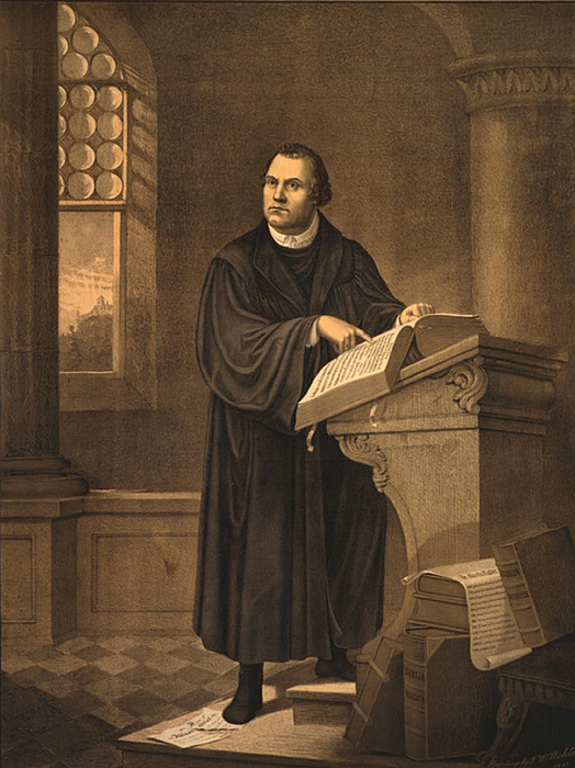 Martin Luther, German Theologian Print by Photo Researchers