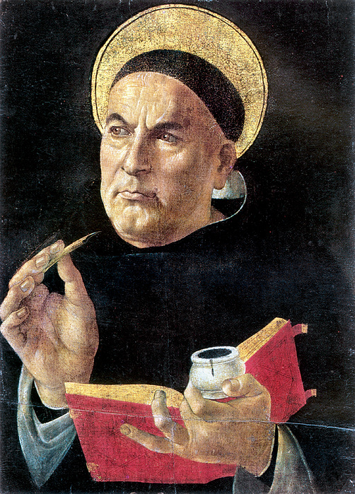 St. Thomas Aquinas Print by Granger