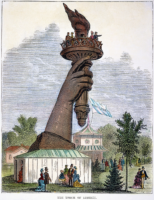 Statue Of Liberty, 1876 Print by Granger