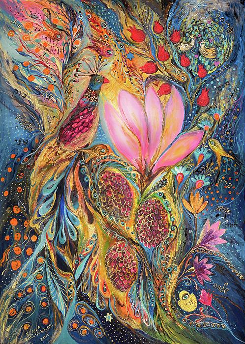 The Grapes Of Holy Land Print by Elena Kotliarker