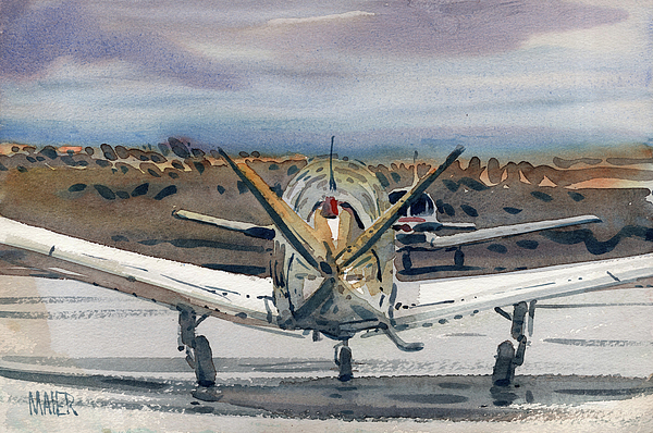 Two Planes Print by Donald Maier