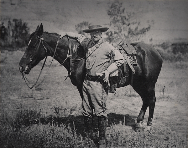Young Theodore Roosevelt Dressed Print by Everett