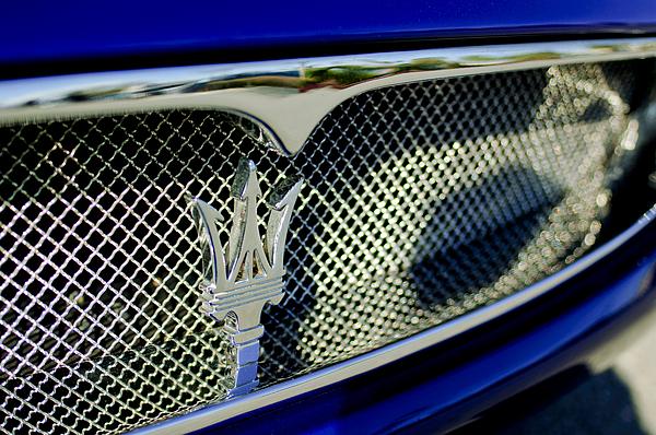 2002 Maserati Hood Ornament Print by Jill Reger
