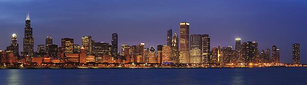 2010 Chicago Skyline Print by Donald Schwartz