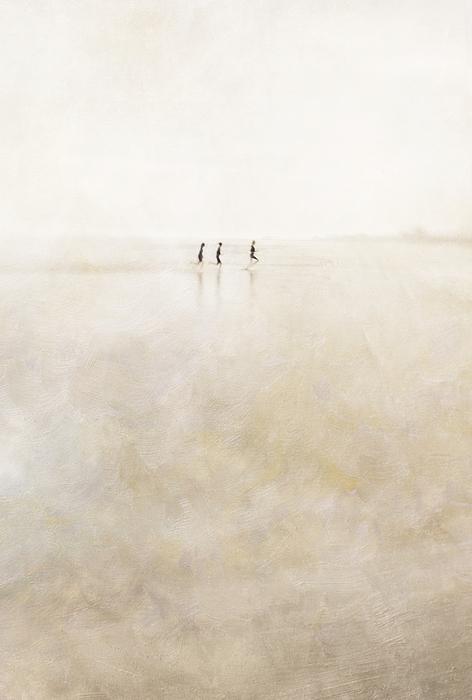 3 Girls Running Print by Paul Grand