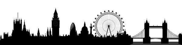 London Skyline Print by Michal Boubin
