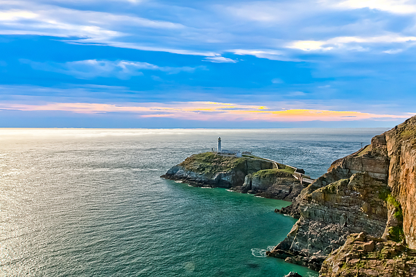 South Stack Lighthouse Print by Gary Finnigan