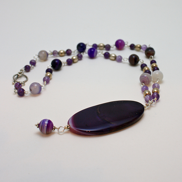 3573 Banded Agate Necklace  Print by Teresa Mucha