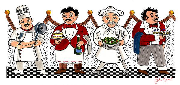 4 Chefs Print by John Keaton