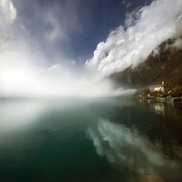 Misty Morning Print by Angel  Tarantella