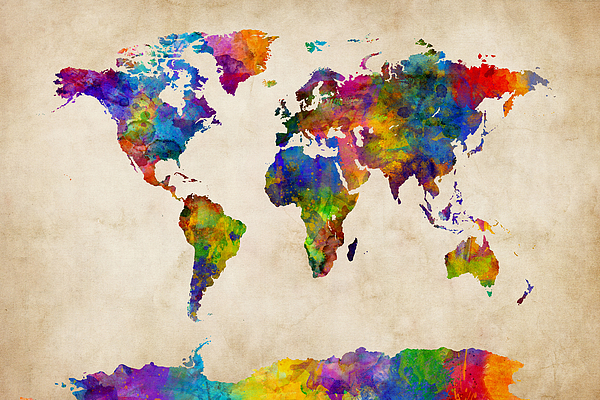 World Map Watercoloreii By Michael 28 Images Watercolor Map Of The World By Michael Tompsett