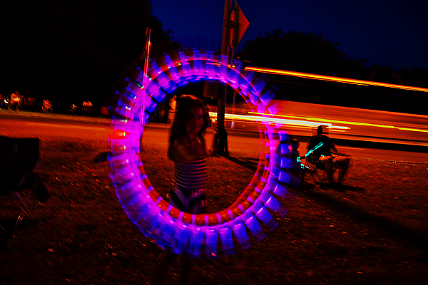 George Bostian - 4th Of July - Glow Sticks On A String