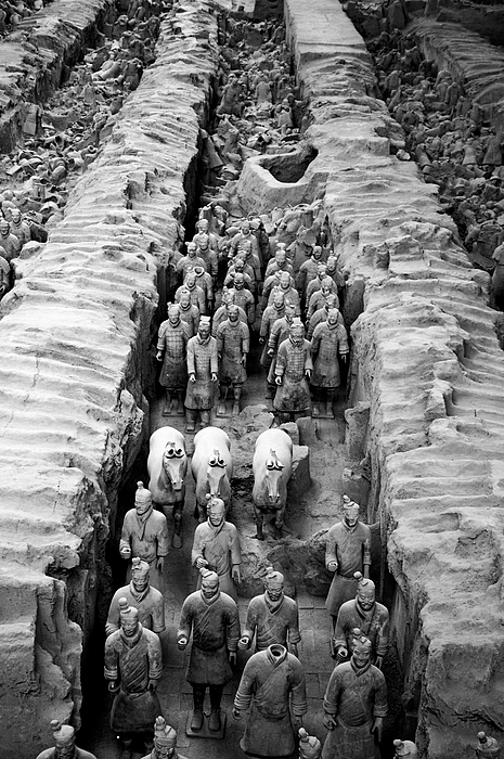 The Terracotta Army Print by Sami Sarkis