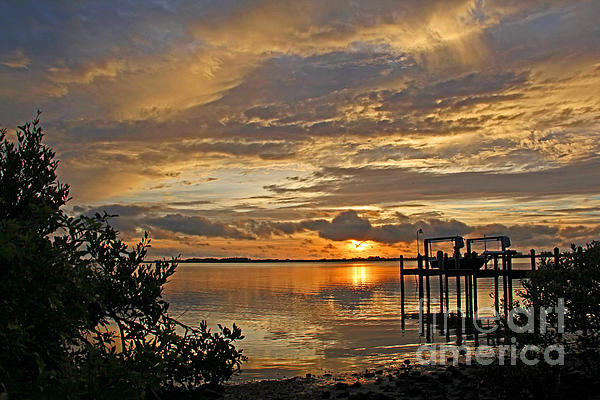 A Brooding Sunset Sky Print by HH Photography of Florida