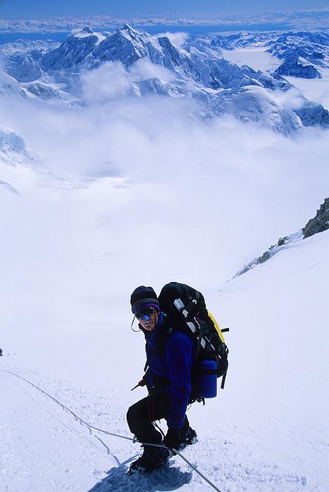 A Climber On The Descent Print by Bill Hatcher