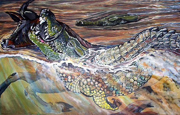 A Crocs Gotta Eat Print by Jenn Cunningham