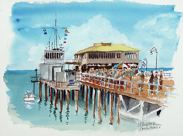 A Day At The Shore Print by John Crowther