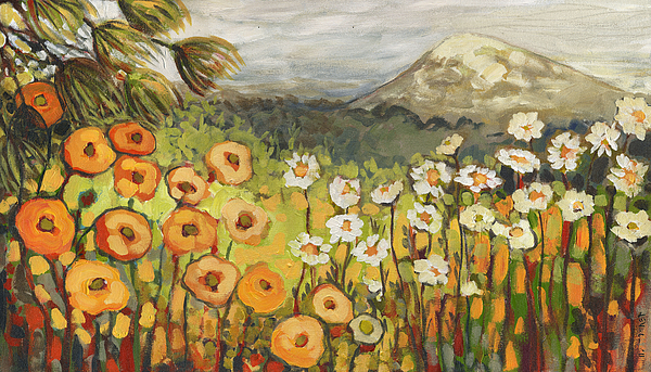 A Mountain View Print by Jennifer Lommers