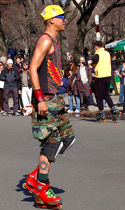 A Skater In Central Park Print by RicardMN Photography