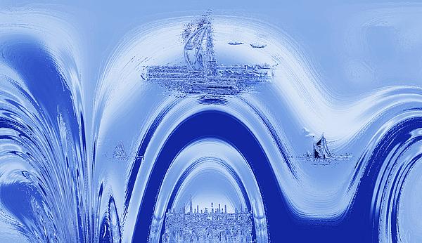 Above Atlantis. Print by Terence Davis