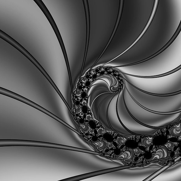 Abstract 125 Bw Print by Rolf Bertram