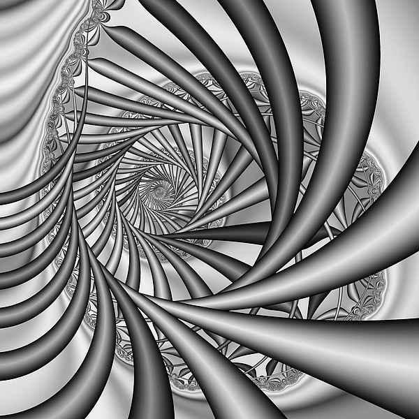 Abstract 532 Bw Print by Rolf Bertram