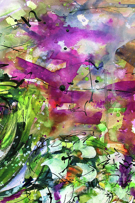 Abstract Arti 1 By Ginette Print by Ginette Callaway