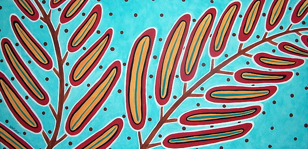 Abstract Ferns Print by Karla Gerard