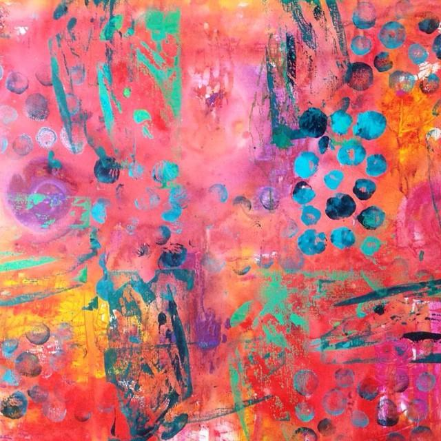 Lesley Austin - Abstract- Ink And Acrylic