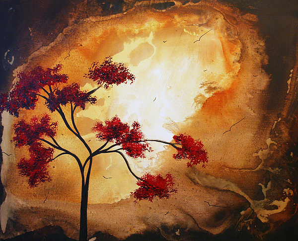 Abstract Landscape Painting Empty Nest 12 By Madart Print by Megan Duncanson