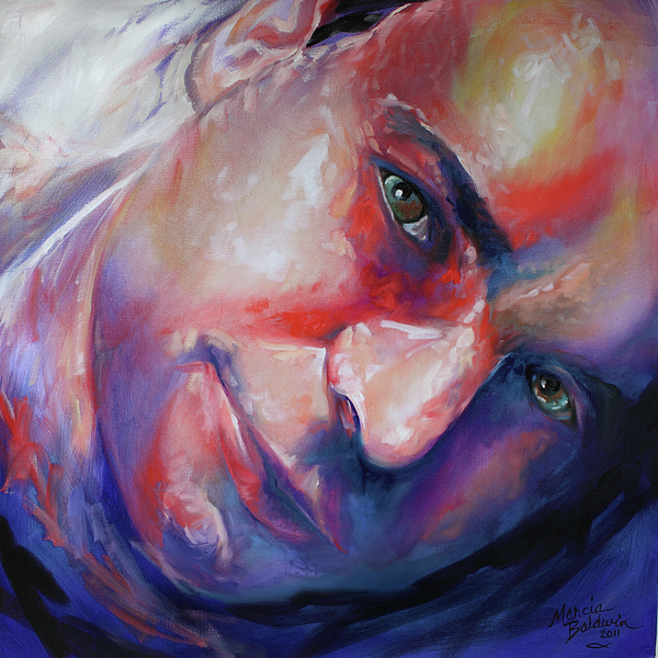 Abstract Portrait Print by Marcia Baldwin