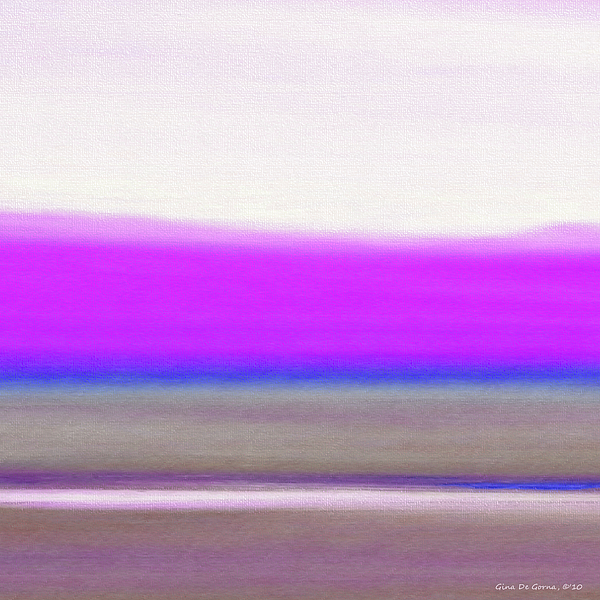 Abstract Sunset 65 Print by Gina De Gorna