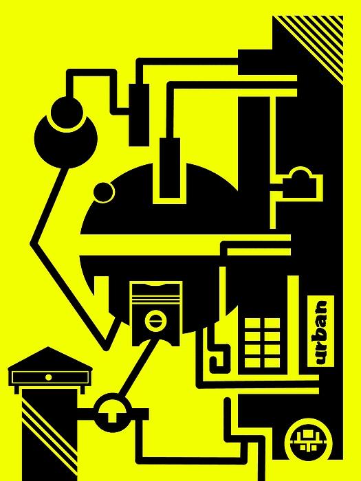 Abstract Urban 03 Print by Dar Geloni