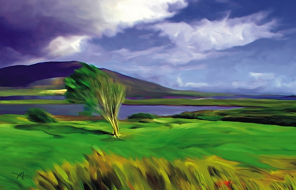 Achill Island Ireland  Sunny Print by Bob Salo
