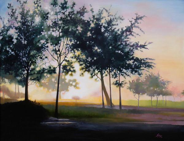 Adam-ondi-ahman Sunrise Print by Lester Nielsen