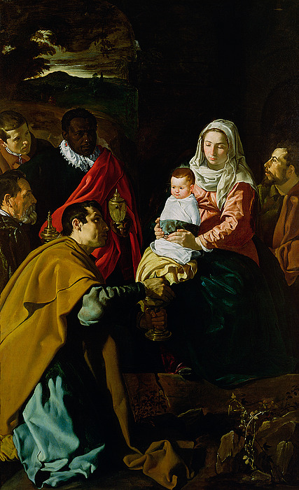 Adoration Of The Kings Print by Diego rodriguez de silva y Velazquez