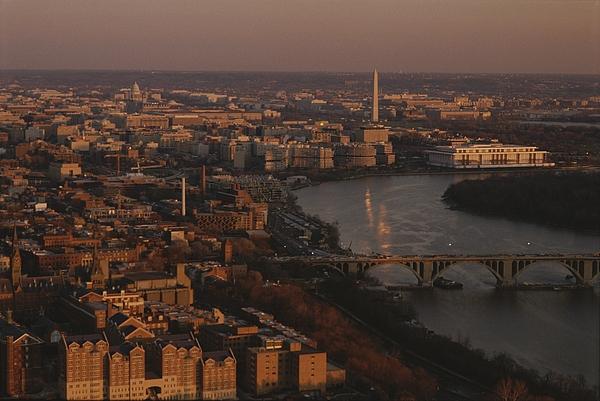 Aerial View Of Washington, D.c Print by Kenneth Garrett