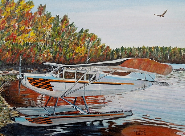 Aeronca Super Chief 0290 Print by Marilyn  McNish
