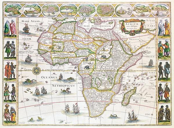Africa Nova Map Print by Willem Blaeu