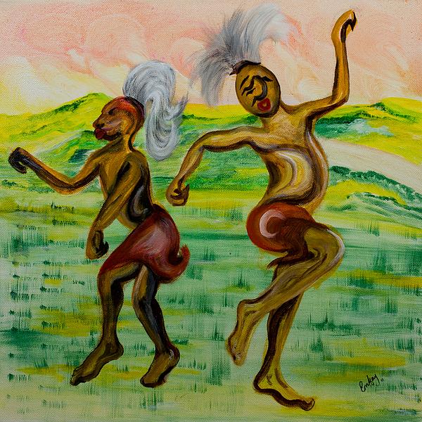 African Dance Print by Emma Kinani