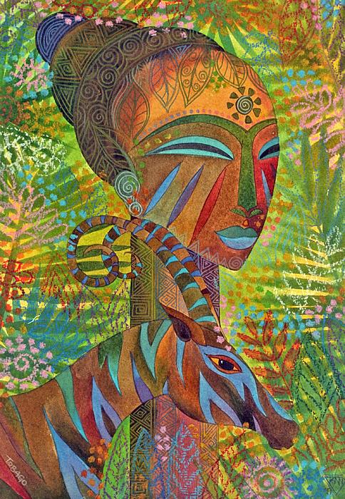 African Queens Print by Jennifer Baird