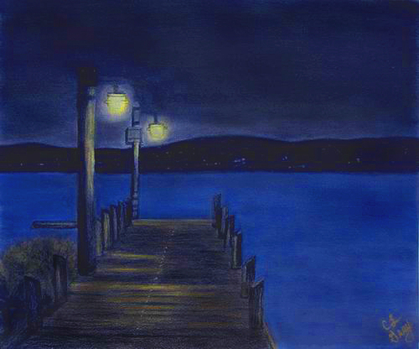 After Dinner Walk Print by Cindy Gray