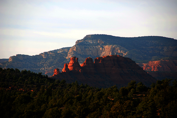 After Sunset In Sedona Print by Susanne Van Hulst