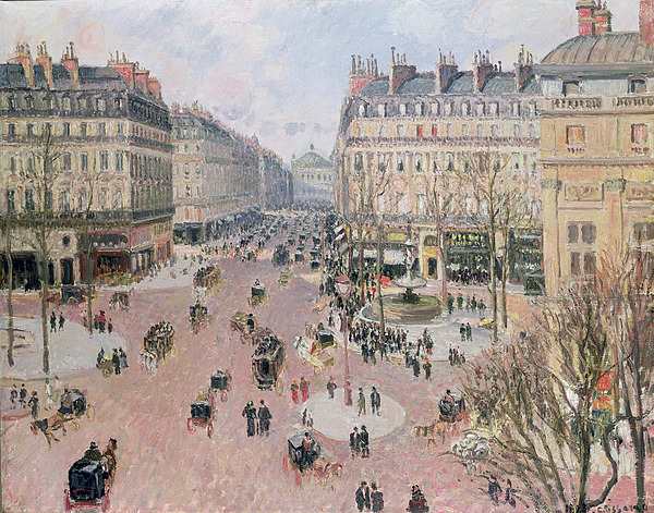 Afternoon Sun In Winter Print by Camille Pissarro