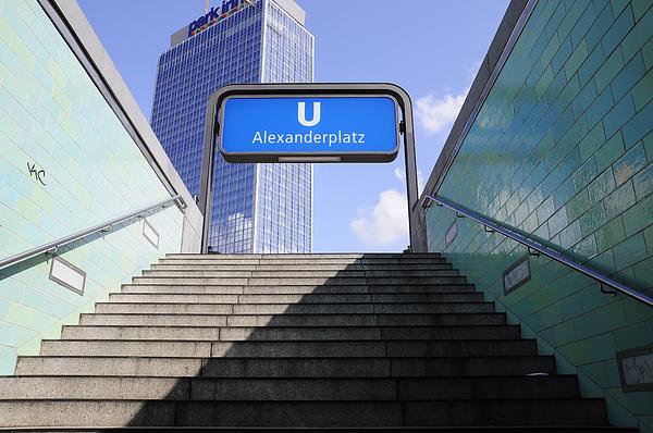 Alexandeplatz Sign Print by Evgeny Ivanov