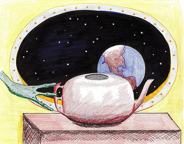 Aliens View Print by Jose Valeriano