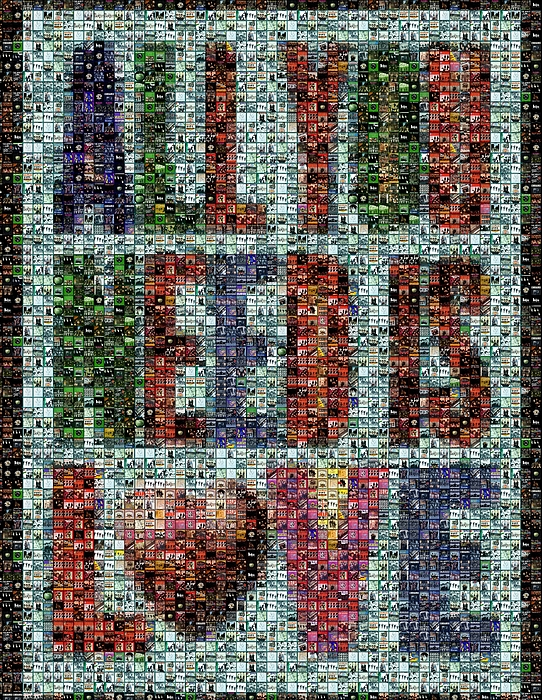All You Need Is Love Mosaic Print by Paul Van Scott