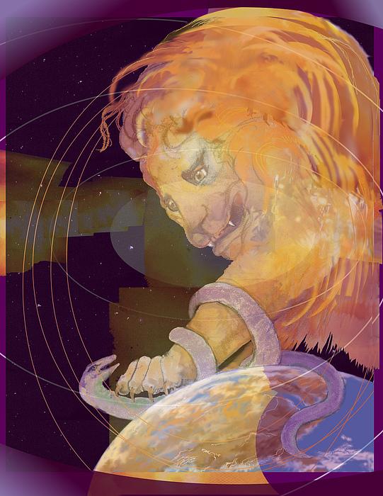 Alpha And Omega Print by Nancy Watson